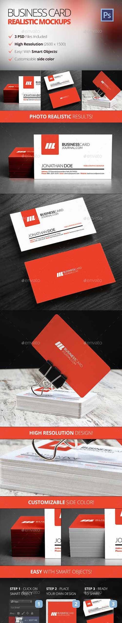 GR - Photo Realistic Business Card Mockups