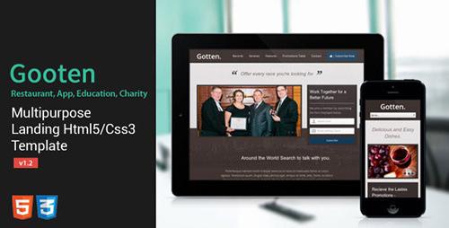 ThemeForest - Gotten v1 02 - Restaurant, App, Education, Charity