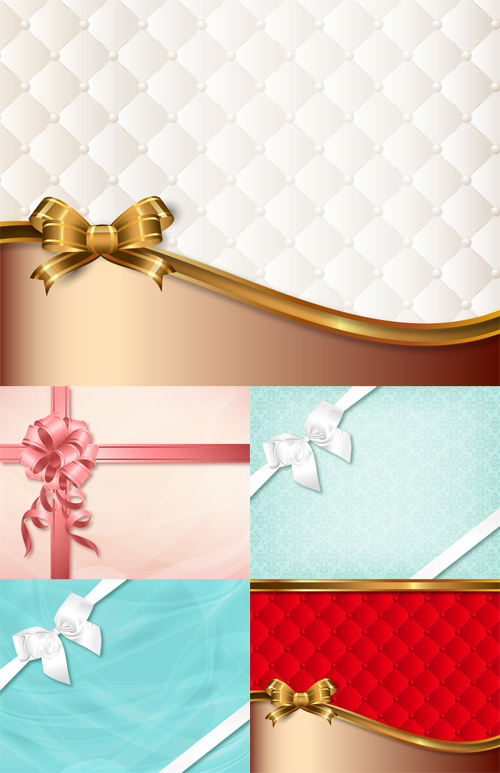 Vector Set - 5 Backgrounds for Cards