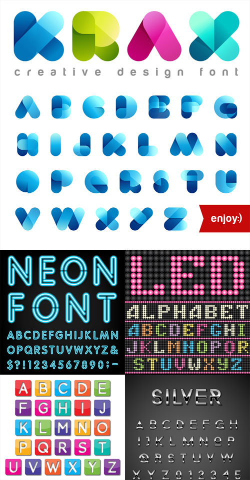 Vector Set - 5 Alphabet