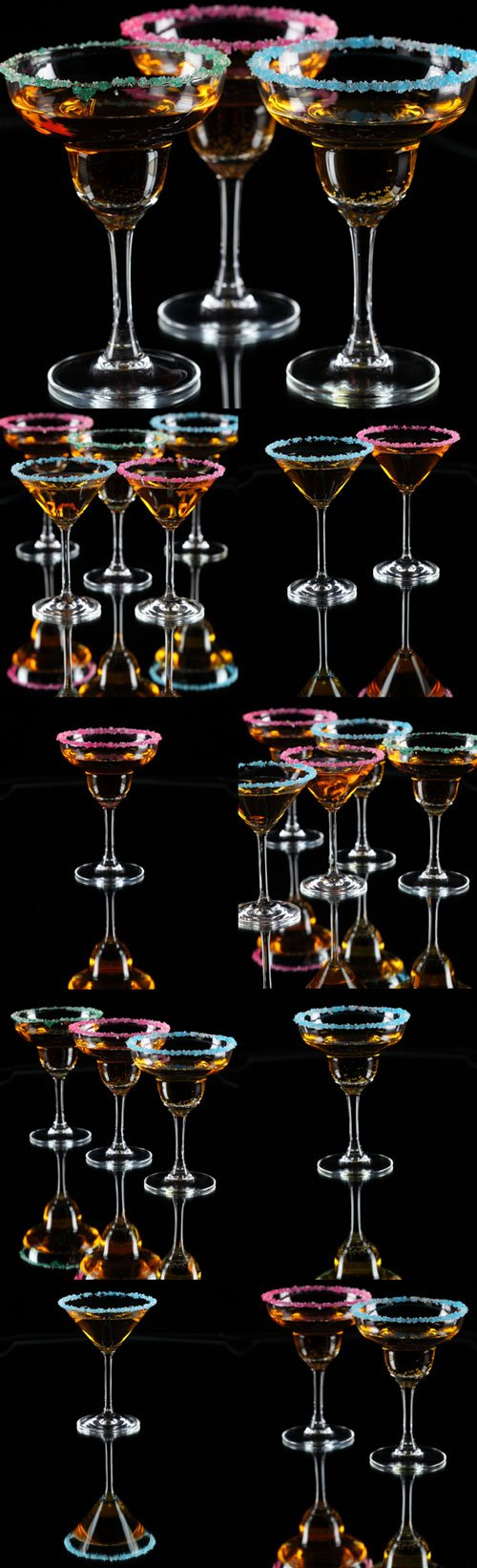 Multicolored drinks party Raster Graphics