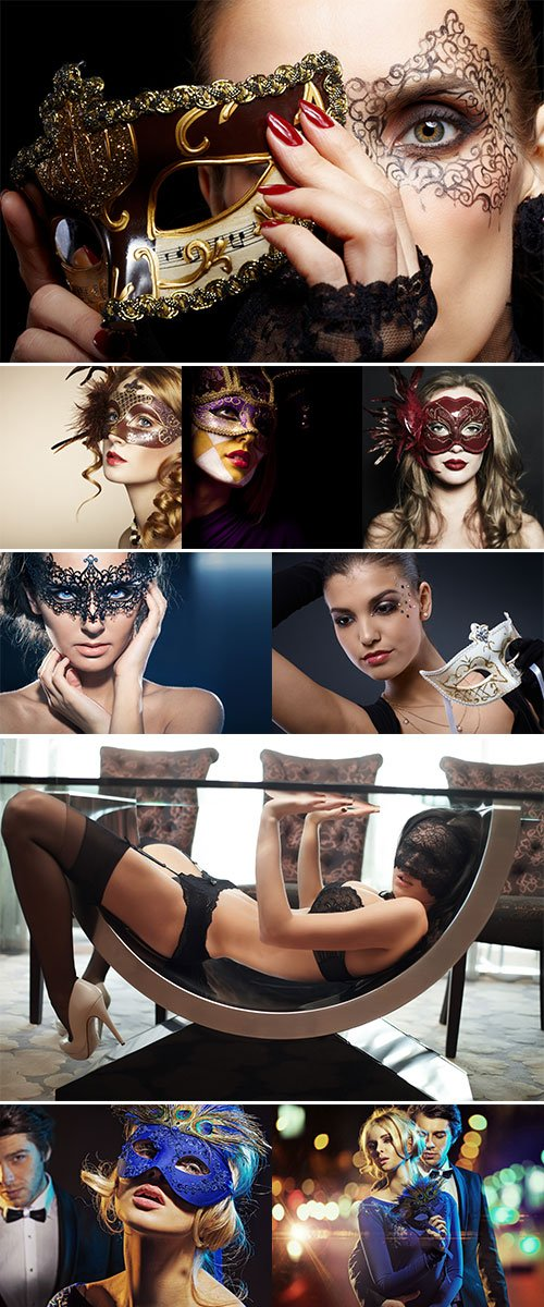 Stock Photos Beautiful female wearing mask