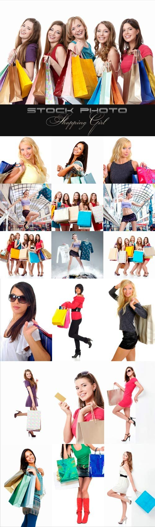 Shopping Girl raster graphics