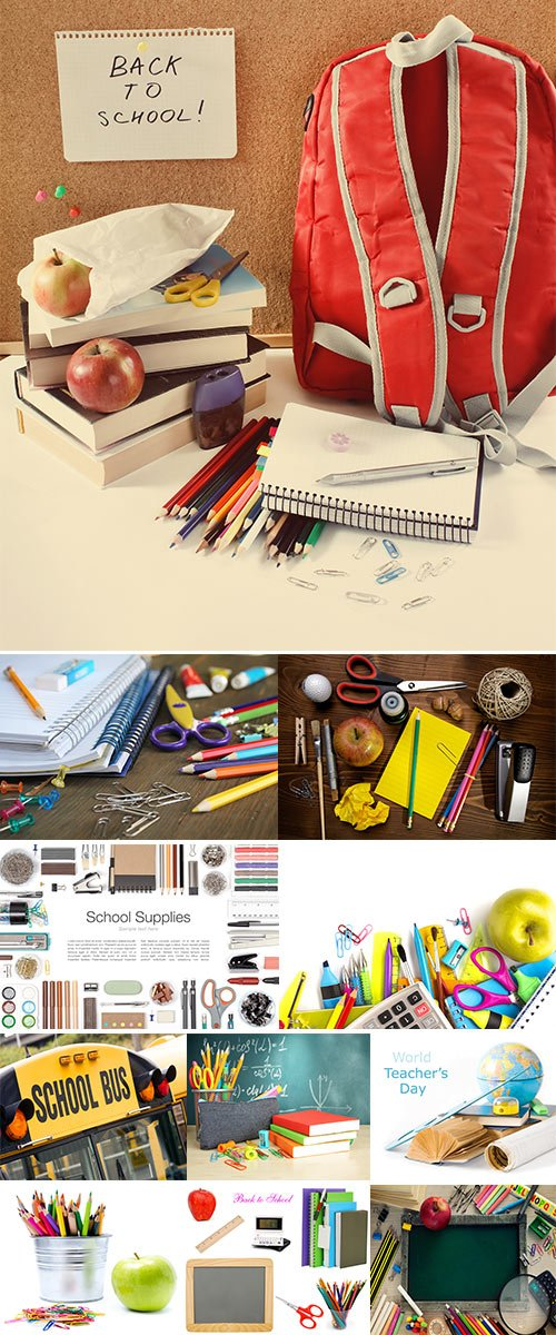 Stock Photos School objects for students
