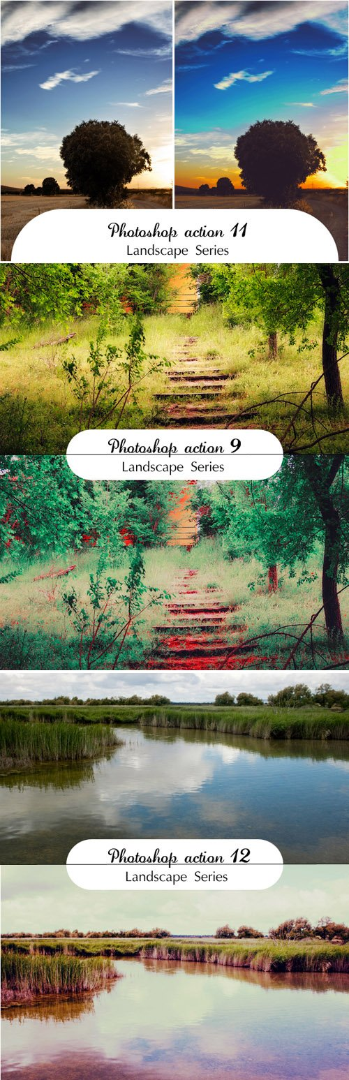 Landscape Photoshop Actions, part 2