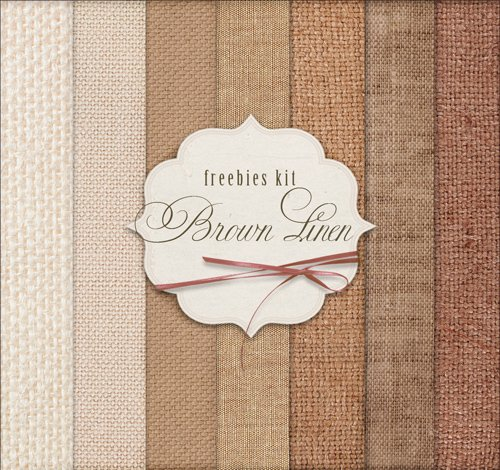 Background Textures - Brown Linen