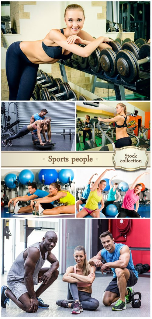 Sports people, fitness - Stock photo