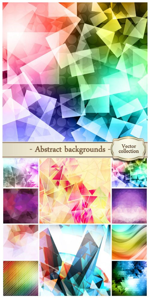 Vector abstract backgrounds #28