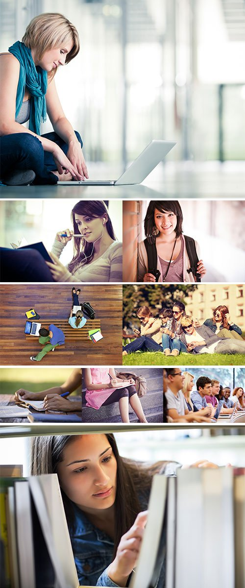 Stock Photos College students