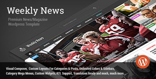 ThemeForest - Weekly News v2.3.6.1 - Wordpress News/Magazine Theme