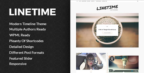 ThemeForest - LineTime v1.0 - Modern Timeline Wordpress Blog Theme