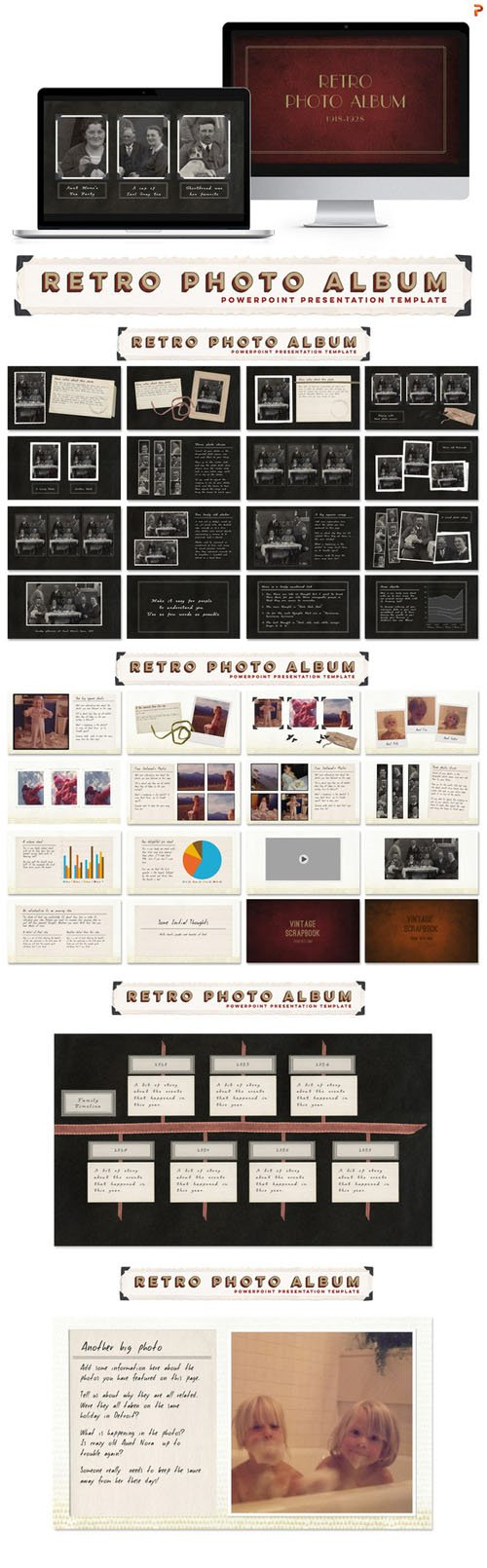 Creativemarket - Retro Photo Album PPT Template 283433