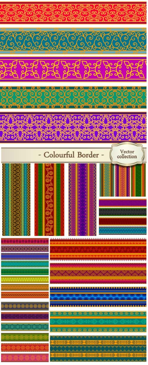 Henna inspired colourful border