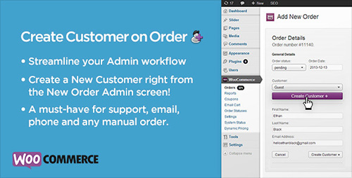 CodeCanyon - Create Customer on Order for WooCommerce v1.13