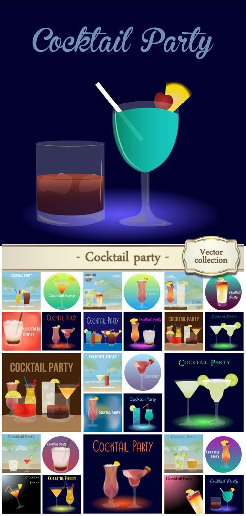 Cocktail party, vector backgrounds