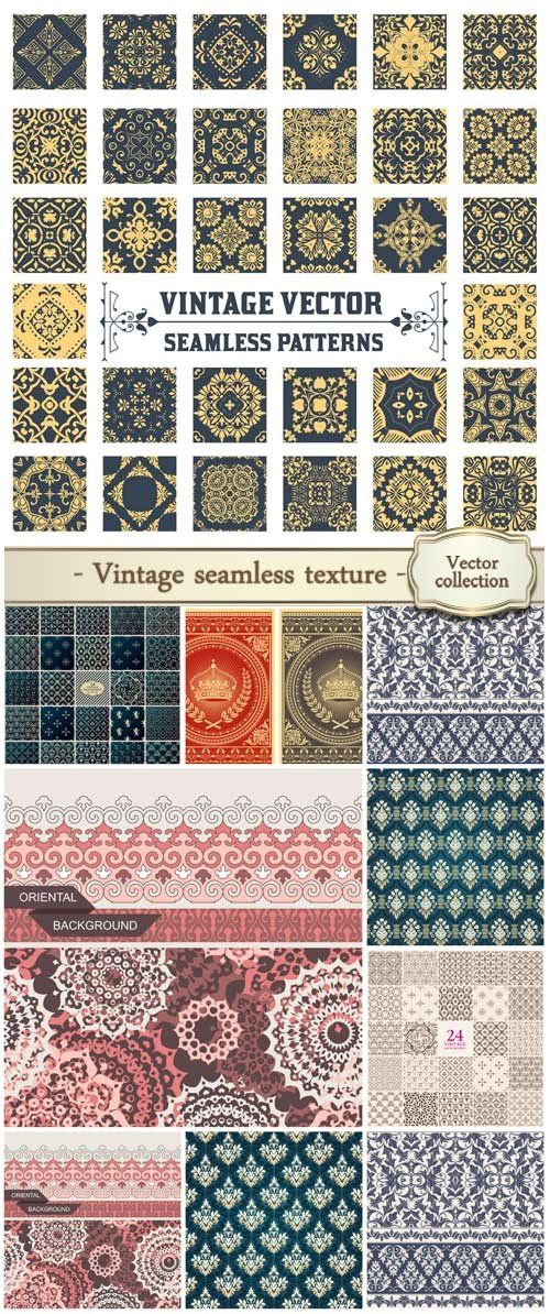 Vintage vector seamless texture
