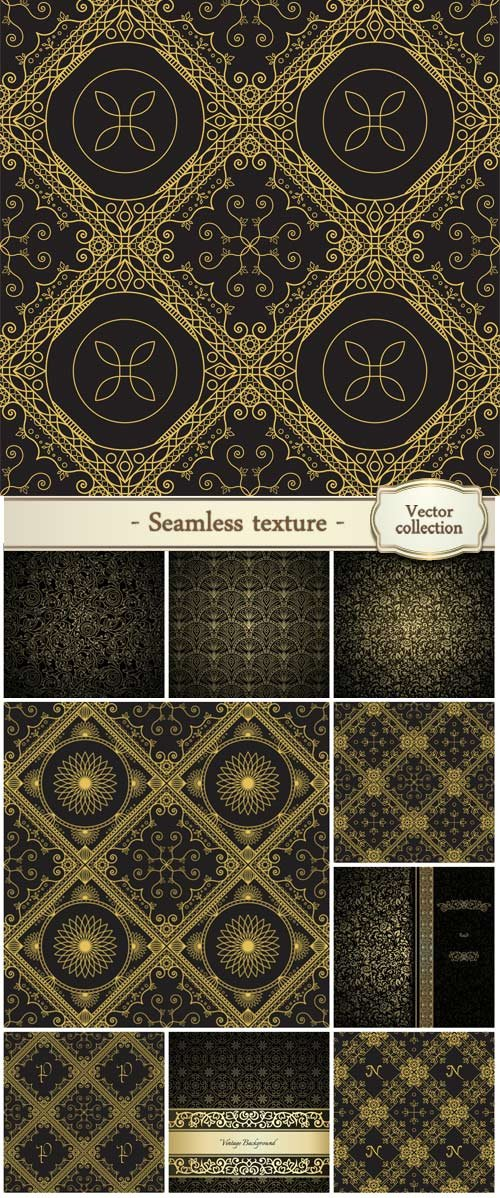 Seamless texture with vintage geometric ornament