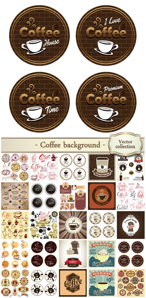 Coffee background, label
