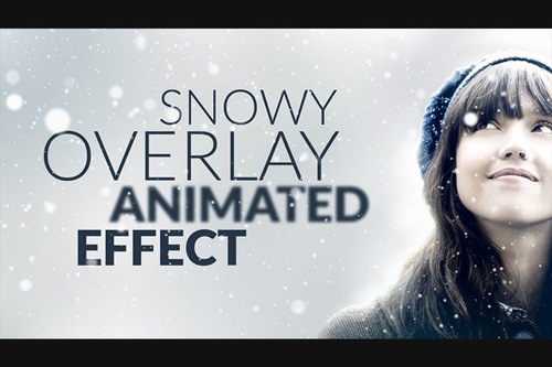CM - Snowy Animated Overlay in Photoshop
