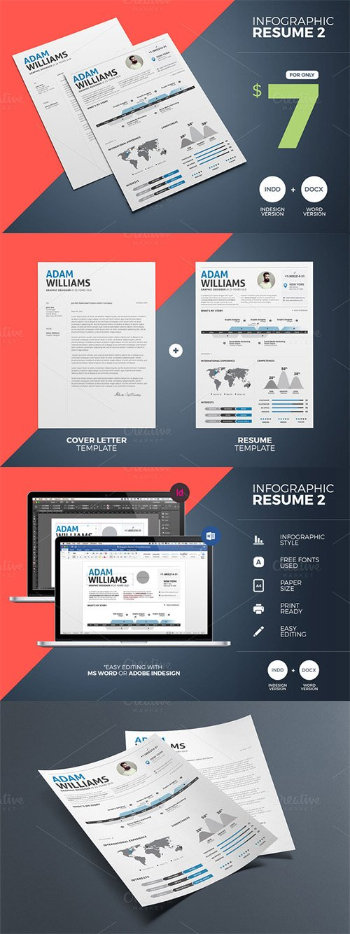 CM - Infographic Resume 2 Word & Indesign 349648