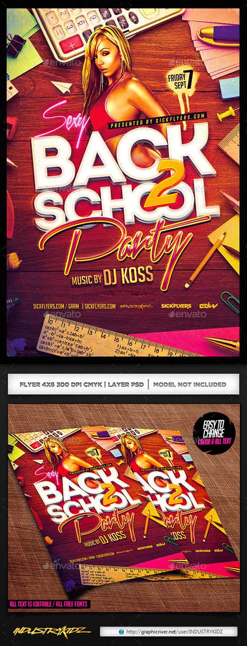 Flyer PSD - Back to School