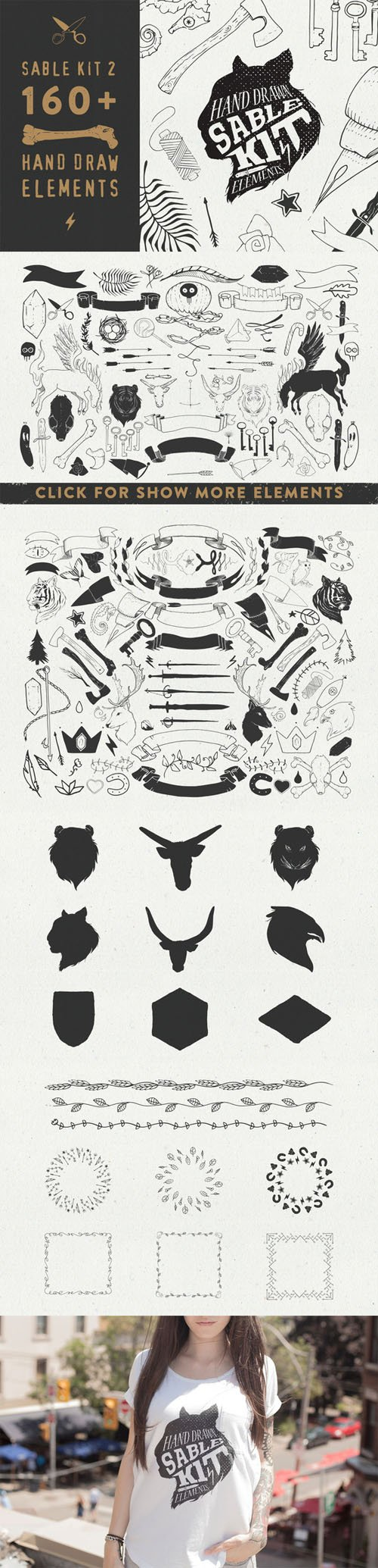 Sable Kit 2 - hand drawn collection - Creativemarket 88245