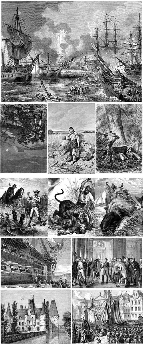 Stock Images Vintage engraved illustration
