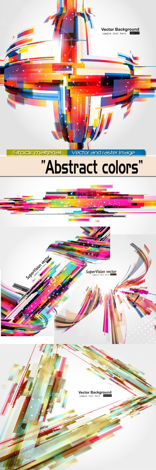 Backgrounds in Vector - Color abstractions