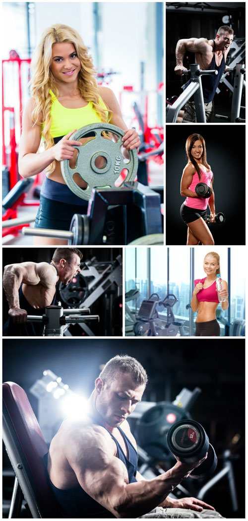 Sports people at the gym - Stock photo