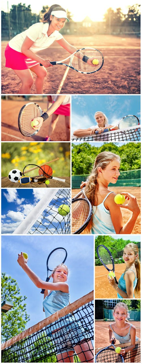 Tennis, people and sports - stock photos
