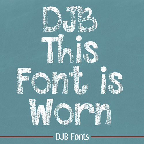 Font - This Font is Worn