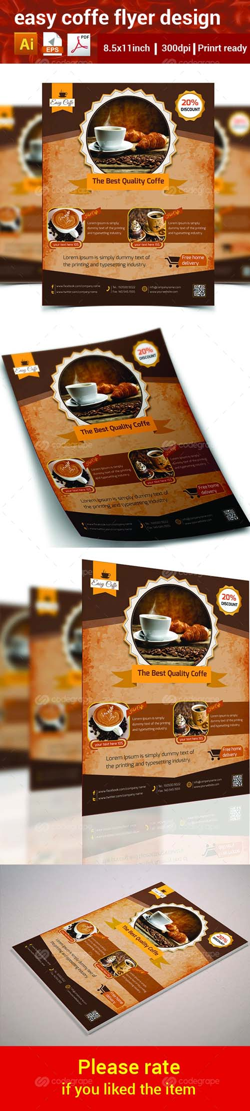Easy Coffee Flyer