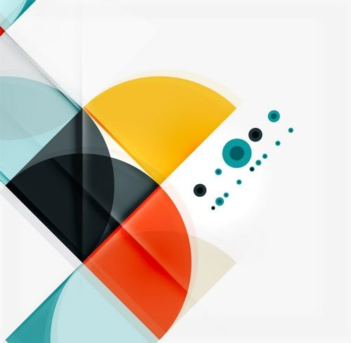 Abstract Semicircles and triangles - backgrounds in Vector