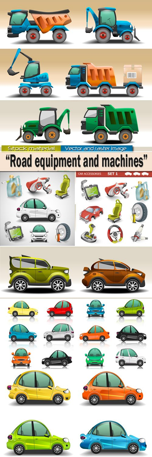 Road equipment and color machines