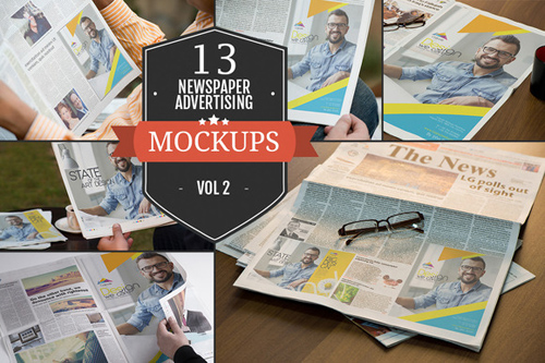 PSD - Newspaper Advertising Mockups Vol.2 351470