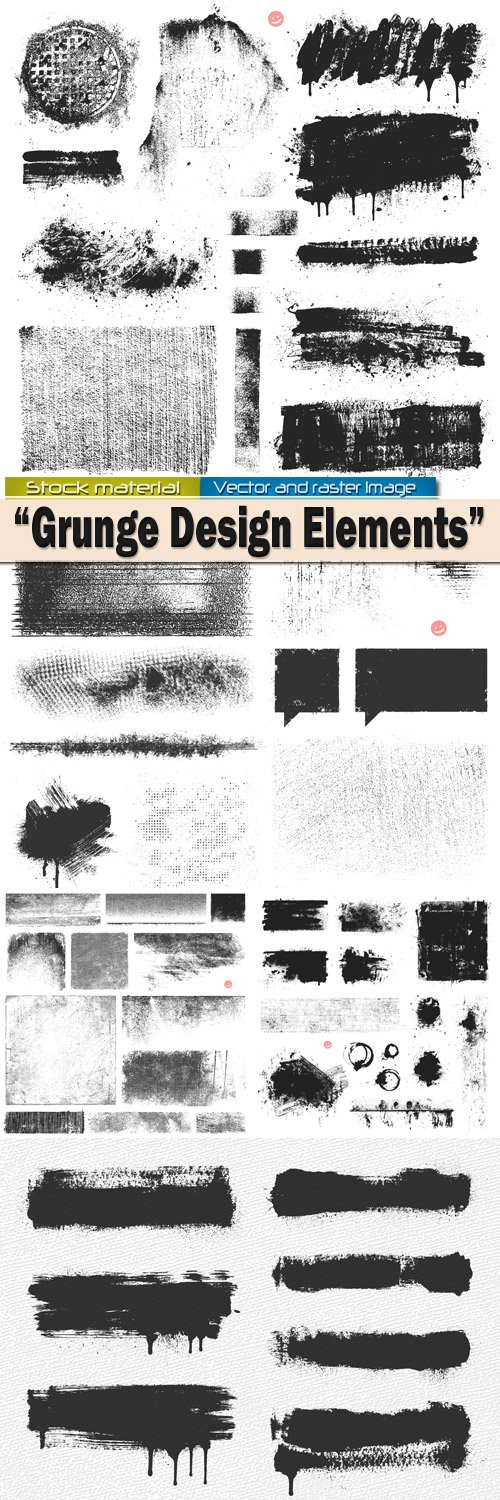 Vector Elements Design in Grunge style