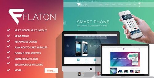 ThemeForest - Flaton v1.0 - Responsive Magento Digital Theme