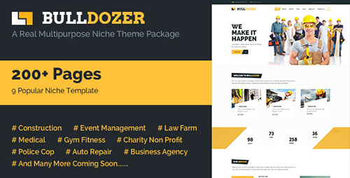 ThemeForest - Bulldozer v1.0 - Mega Package Multipurpose TemplateThemeForest - Bulldozer v1.0 - Mega...