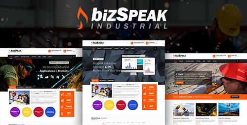 ThemeForest - BizSpeak v1.0.0 - Industrial Joomla 3.x Business Template