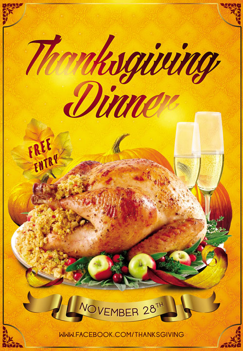 club flyer psd template thanksgiving dinner nitrogfx download unique graphics for creative. Black Bedroom Furniture Sets. Home Design Ideas