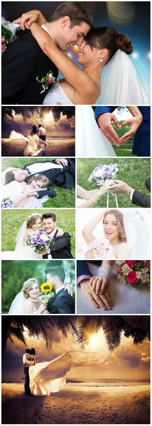 Wedding stock photos, bride, groom - Stock photo