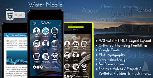 ThemeForest - Water Mobile v1.0 - Premium HTML Theme - 4121859