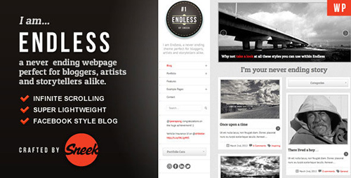 ThemeForest - Endless v1.2.5 - Infinite scrolling WordPress Theme - 2085634