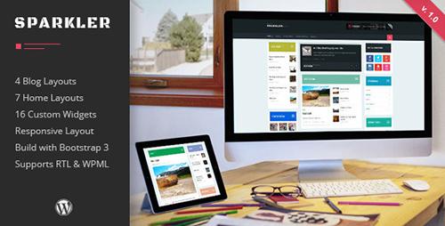 ThemeForest - Sparkler v1.0 - Responsive Wordpress Magazine Theme - 12693574