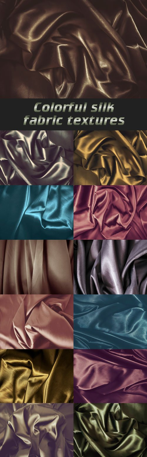 Colorful silk fabric textures