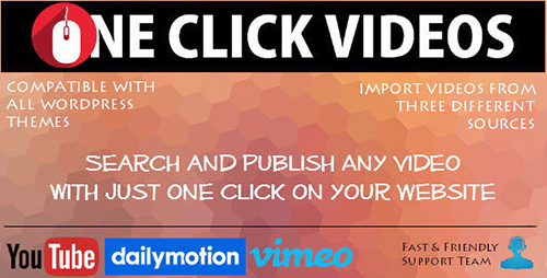 CodeCanyon - One Click Videos for Wordpress v1.0 - 12645824