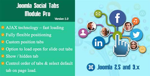CodeCanyon - Joomla Social Tabs Module Pro v1.0 - 12109777