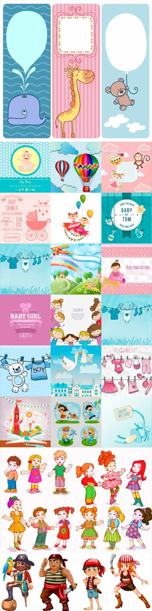 Children vector for boys and girls