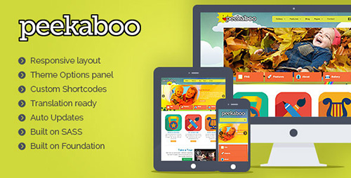 ThemeForest - Pekaboo v2.9 - WordPress Children Theme Template - 409980