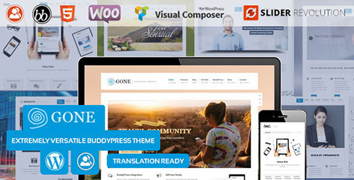 ThemeForest - Gone v1.0 - BuddyPress & WordPress Theme - 7256836